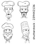 chef head set collection | Shutterstock .eps vector #239442136