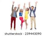 people in shopping carnival | Shutterstock . vector #239443090