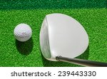 golf club and golf ball on... | Shutterstock . vector #239443330