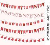 set of garlands for valentine's ... | Shutterstock .eps vector #239444404
