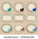 set of elegant templates of... | Shutterstock .eps vector #239446180