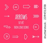 arrows thin line icons.  | Shutterstock .eps vector #239451358