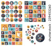 flat concept  design with... | Shutterstock .eps vector #239453260
