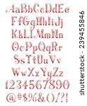 3d alphabets  digits and sign... | Shutterstock . vector #239455846