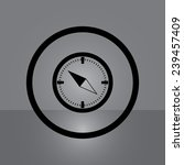 compass on gray background ...