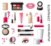 highly detailed cosmetics icons ... | Shutterstock .eps vector #239464078