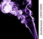 smoke on black background. | Shutterstock . vector #239473090