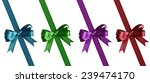 set of bows with ribbons... | Shutterstock . vector #239474170
