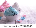 Delicious Cupcakes On Table...