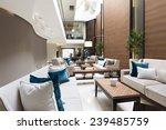 Stock photo hotel lobby cafe interior 239485759