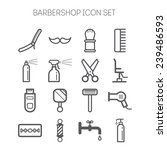 set of simple barbershop icons | Shutterstock .eps vector #239486593