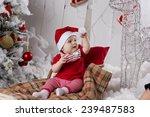 little girl  baby sitting on... | Shutterstock . vector #239487583