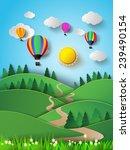 illustration of sunlight on... | Shutterstock .eps vector #239490154