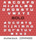 bold font type. vector... | Shutterstock .eps vector #239494000