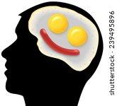 raster neurogastronomy concept... | Shutterstock . vector #239495896