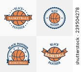 basketball sport team emblems... | Shutterstock .eps vector #239504278