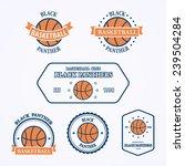 basketball sport team emblems... | Shutterstock .eps vector #239504284