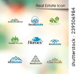 abstract real estate icons and... | Shutterstock .eps vector #239506984