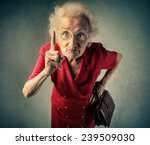 angry grandma pointing out... | Shutterstock . vector #239509030