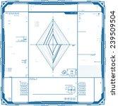 futuristic graphic user... | Shutterstock .eps vector #239509504