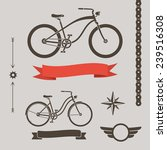 classic cruiser bicycles and... | Shutterstock .eps vector #239516308