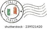 postal grunge stamp 'italy' | Shutterstock .eps vector #239521420