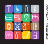 set of simple icons for... | Shutterstock .eps vector #239522020