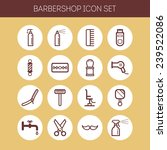 set of simple icons for... | Shutterstock .eps vector #239522086