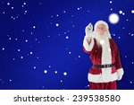 santa writes something with a... | Shutterstock . vector #239538580