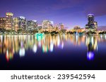 orlando  florida  usa downtown... | Shutterstock . vector #239542594
