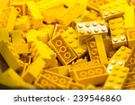 Pile Of Yellow Color Building...
