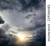 Dramatic Cloudscape Area With...
