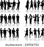 business people 2 vector work   Shutterstock .eps vector #23956753
