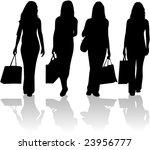 shopping girls   vector work | Shutterstock .eps vector #23956777