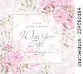 wedding card or invitation with ... | Shutterstock .eps vector #239580184