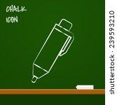 icon of pen | Shutterstock .eps vector #239593210