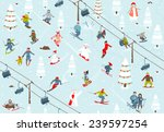 ski resort seamless pattern... | Shutterstock .eps vector #239597254