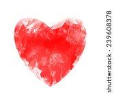 watercolor heart. vector flower ... | Shutterstock .eps vector #239608378
