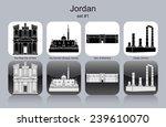 landmarks of jordan. set of... | Shutterstock .eps vector #239610070