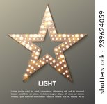 star retro light banner. vector ... | Shutterstock .eps vector #239624059