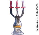 children's watercolor drawing... | Shutterstock . vector #239630080