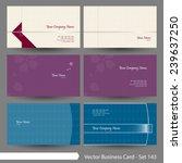vector business card template... | Shutterstock .eps vector #239637250