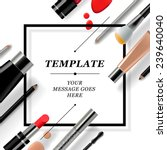makeup template with collection ... | Shutterstock .eps vector #239640040