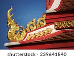 thai temple roof with blue sky  ... | Shutterstock . vector #239641840