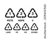 set of recycling symbols for... | Shutterstock .eps vector #239641960