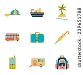 travel flat icons set | Shutterstock .eps vector #239651788
