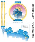 blue goat paper toy with... | Shutterstock .eps vector #239658130