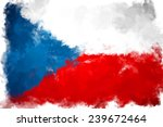 Oil Color Czech Republic Flag