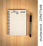 to do list for 2015 may | Shutterstock . vector #239677648