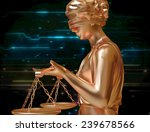 Lady Of Justice Standing...
